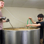Chris and Owen mashing in